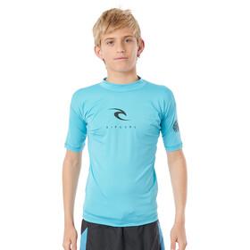 Rip Curl Corp SS UV Shirt Boys, Turquesa